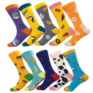 10 Pairs of Women Novelty Socks Fruit Printed Socks Set H