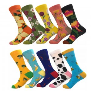 10 Pairs of Women Novelty Socks Fruit Printed Socks Set J