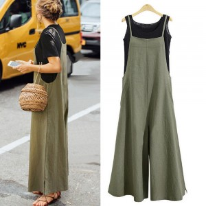 Women's Wide Leg Jumpsuit Green