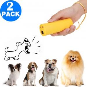 2 X Anti-Barking Dog Trainer Dog Repellent Trainer Ultrasonic Anti Barking Device with LED Flashlight
