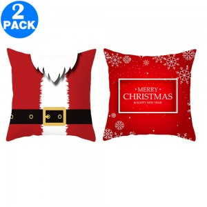 2Pack 45 X 45CM Christmas Decorative Square Pillow Cases Style 1 and Style 4