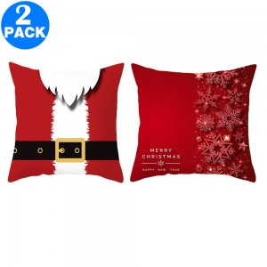 2Pack 45 X 45CM Christmas Decorative Square Pillow Cases Style 1 and Style 5