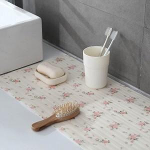 2 Rolls 45cm x 300cm Home Kitchen Shelf Drawer Liner Drawer Mat Flower