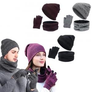 Knitting Gloves Cap Scarf Set