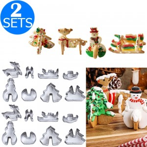 16 Pieces Christmas Stainless Steel Biscuit Molds
