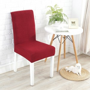 2X Home Decor Elastic Grid Chair Covers-Red