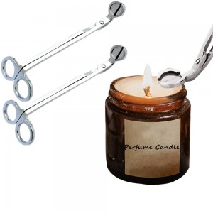 2 X Stainless Steel Candle Wick Trimmer Scissors Silver