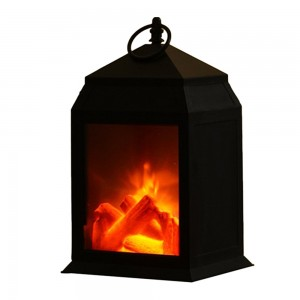 Large Lamp Home Decor Flameless Fireplace Lantern Night Light