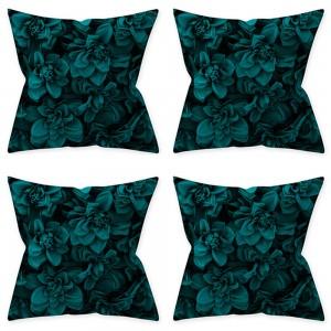 4Pcs Style 1 Aqua Turquoise Blue Cushion Covers Pillow Cases Home Decoration