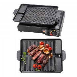 2 X Korean Style Stove Top BBQ Grill Plate Barbecue Tray
