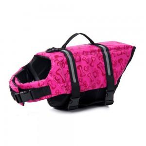 Printed Dog Life Jacket Pink L
