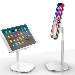 1X  Accessories Height Adjustable for Phone or Tablet Holder-Silver