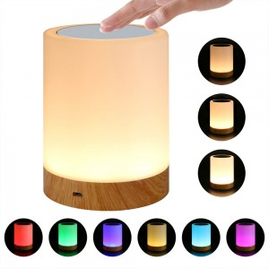Color Changing Touch Bedside Lamp Rechargeable Night Light