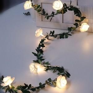 6M 40LED USB Charging Flower Vine Fairy String Light Night Lamp Home Decoration