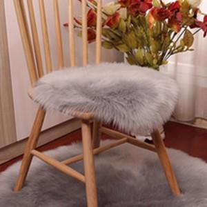 35x35cm Soft Round Seat Cushion Grey