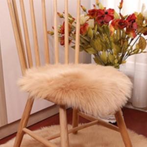 35x35cm Soft Round Seat Cushion Khaki
