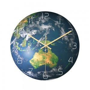 30cm Luminous Earth Planet Oceania Wall Clock Acrylic Wall Hanging Clock