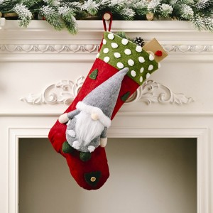 Christmas Socks Cute Faceless Doll Gift Bag Candy Bag