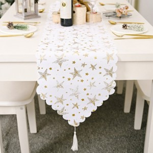 Star Pattern Christmas Table Runner Table Tablecloth