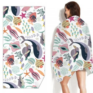2 Pack 80 x 160cm Quick Dry Beach Towels Style 1