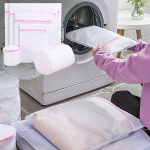 6pcs Set Laundry Wash Bags Clothes Sock Washing Organizer Zipper Clothes Mesh Washing Bags Clothes Storage Bags