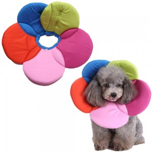 Colourful Soft Pet E Collar Adjustable Wound Healing Collar Anti Scratch for Dog Cat XL