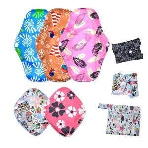 1 Set of Sanitary Pads Set Reusable Soft Cloth Menstrual Pads Super-Absorbent Panty Liner Pads Feminine Hygiene Pads Random Colour