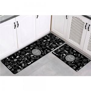 2PCS Kitchen Non-Slip Mat Water Absorbent Long Kitchen Carpets Kitchen Floor Mats Home Decoration Rugs Set Style 5