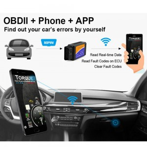 OBD2 Car Diagnostic Scanner for Phone ODB2 Code Reader WiFi Car Diagnostic Wireless Scanner Tool for Android or iOS Phone iPad