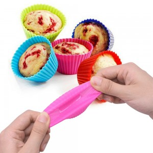 10PCS Reusable Non Stick Silicone Cake Cups Baking Molds Sets for Cup Cake