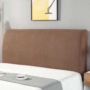 Elastic Bed Headboard Cover Bed Headboard Slipcover Protector Cover Dustproof Bed Head Cover for Bedroom Home Decor Coffee S