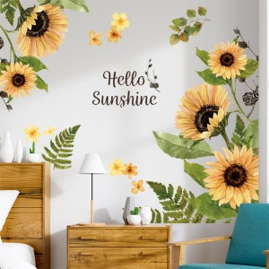 Self-adhesive Stickers Plant Wall Stickers Flower Stickers Window Door Stickers Home Art Decoration Style 3