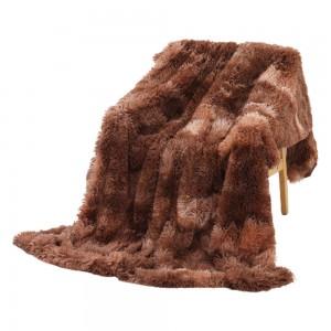 Shaggy Throw Plush Super Soft Blanket Winter Warm Dye Blanket for Bed Sofa