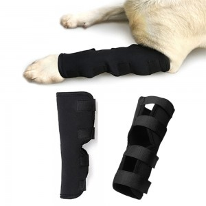 2 X Size Large Pet Knee Support Brace Dog Hock Protector Leg Compression Wrap Pad Pet Leg Care