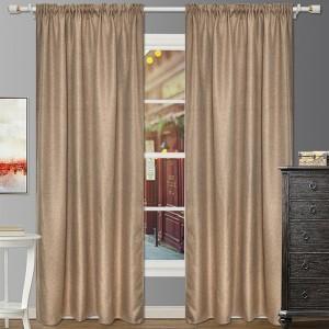2Pcs Coffee 140x240cm Blackout Window Curtains Room Darkening Curtains Home Accs