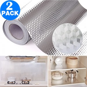 2 X Kitchen Foil Oil Proof Self Adhesive Stove Sticker Wallpaper