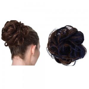 Messy Bun Scrunchie Hair Care Extension-Blue