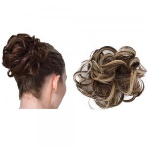 Messy Bun Scrunchie Hair Care Extension-Light Brown Mix Ash Blonde