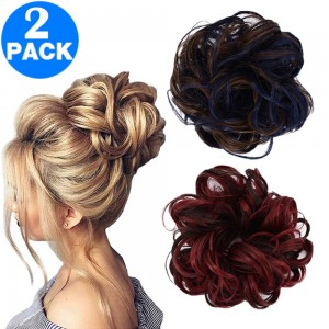 Messy Bun Scrunchie Hair Extension Style 2 and Style 3