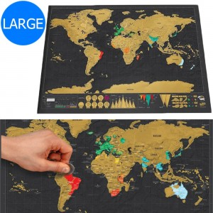 2 X Travel Scratch Off Visited Countries Maps Large