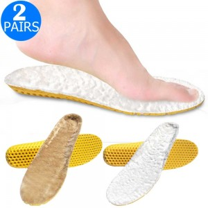 2 Pairs of Sport Artificial Plush Insoles