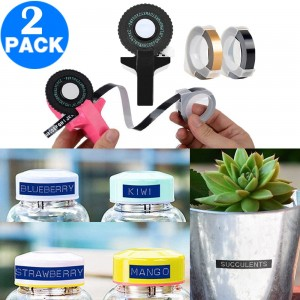 2 X Manual Embossing Label Maker Printer with 4 Rolls Tapes