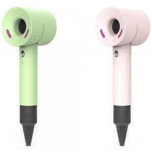 2X Pink Green Silicone Protective Covers for Dyson Hair Dryer HD01 HD03