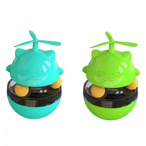 2 X 3 In 1 Cat Tumbler Slow Food Dispenser Toy Blue Green