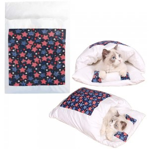 Japanese Style Cat Bed with Pillow Pet Sleeping Bag Style 1 Medium