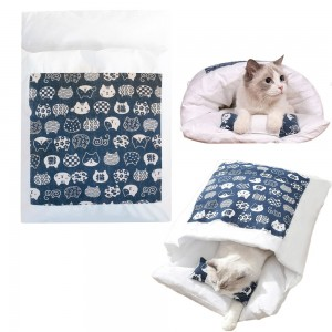 Japanese Style Cat Bed with Pillow Pet Sleeping Bag Style 2 Medium
