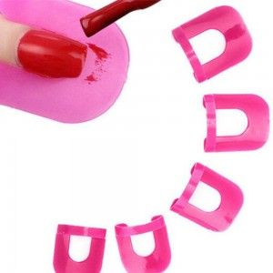 26Pcs Soft Plastic Nail Polish Stencil Set Nail Art Tools Kit