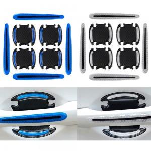 16Pcs Car Door Handle Reflective Sticker Car Decor Blue White