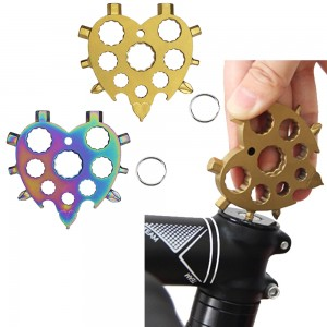 2 X Multicolour Gold 18 In 1 Heart Shape Multi Tool Hex Wrench Screwdriver