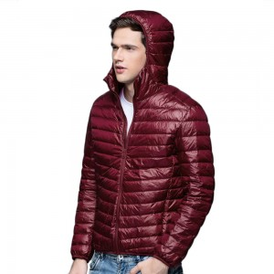 Mens Hooded Warm Jacket K-6007 Winered